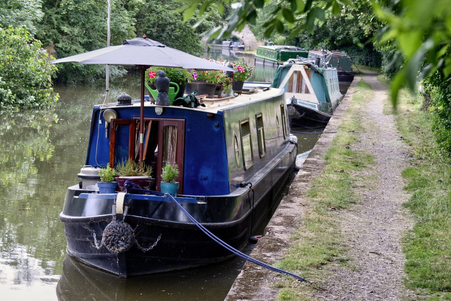 Boat; narrowboat; canal; towpath;
