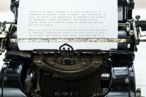 Writer; author; non-fiction; fiction; typewriter; stories; books; blog; writing;